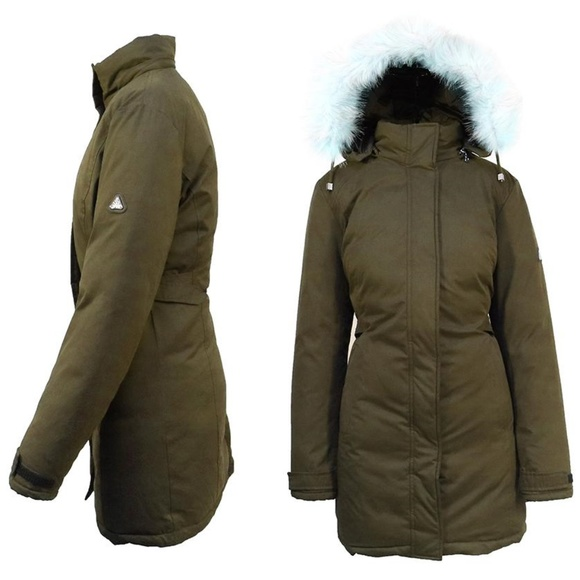 Spire by Galaxy Jackets & Blazers - NWT Olive Heavy-Weight Parka W/ Faux Fur Hood